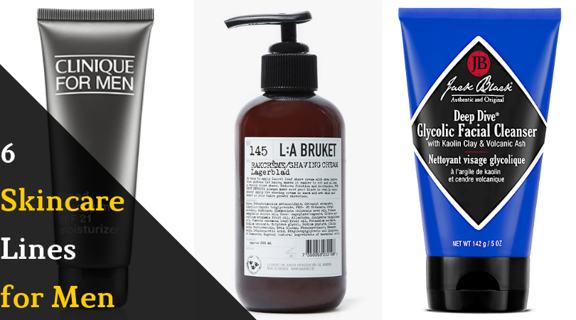 6 skincare lines for men